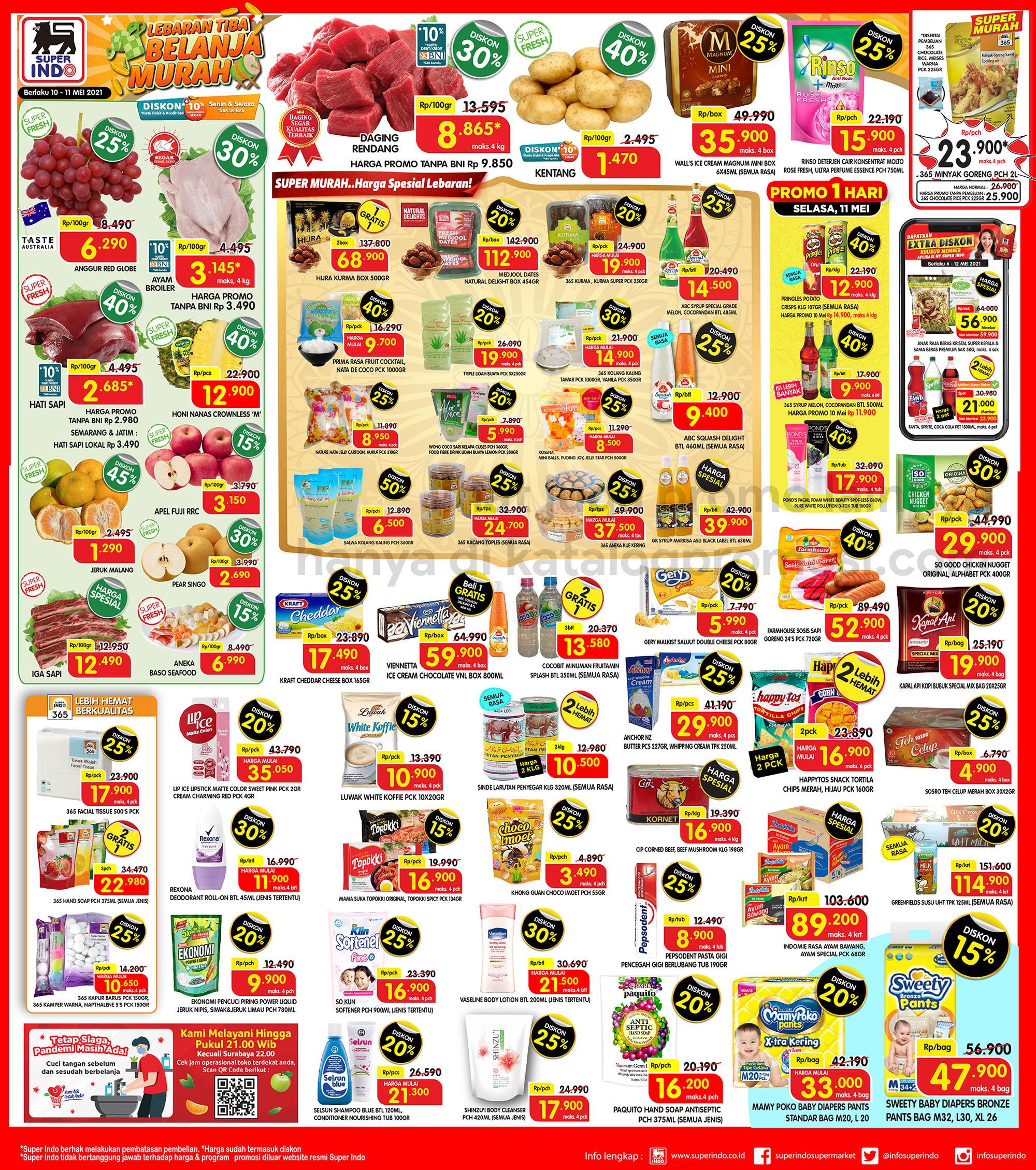 Promo Superindo Katalog Awal Pekan (Weekday) periode 10-11 Mei 2021