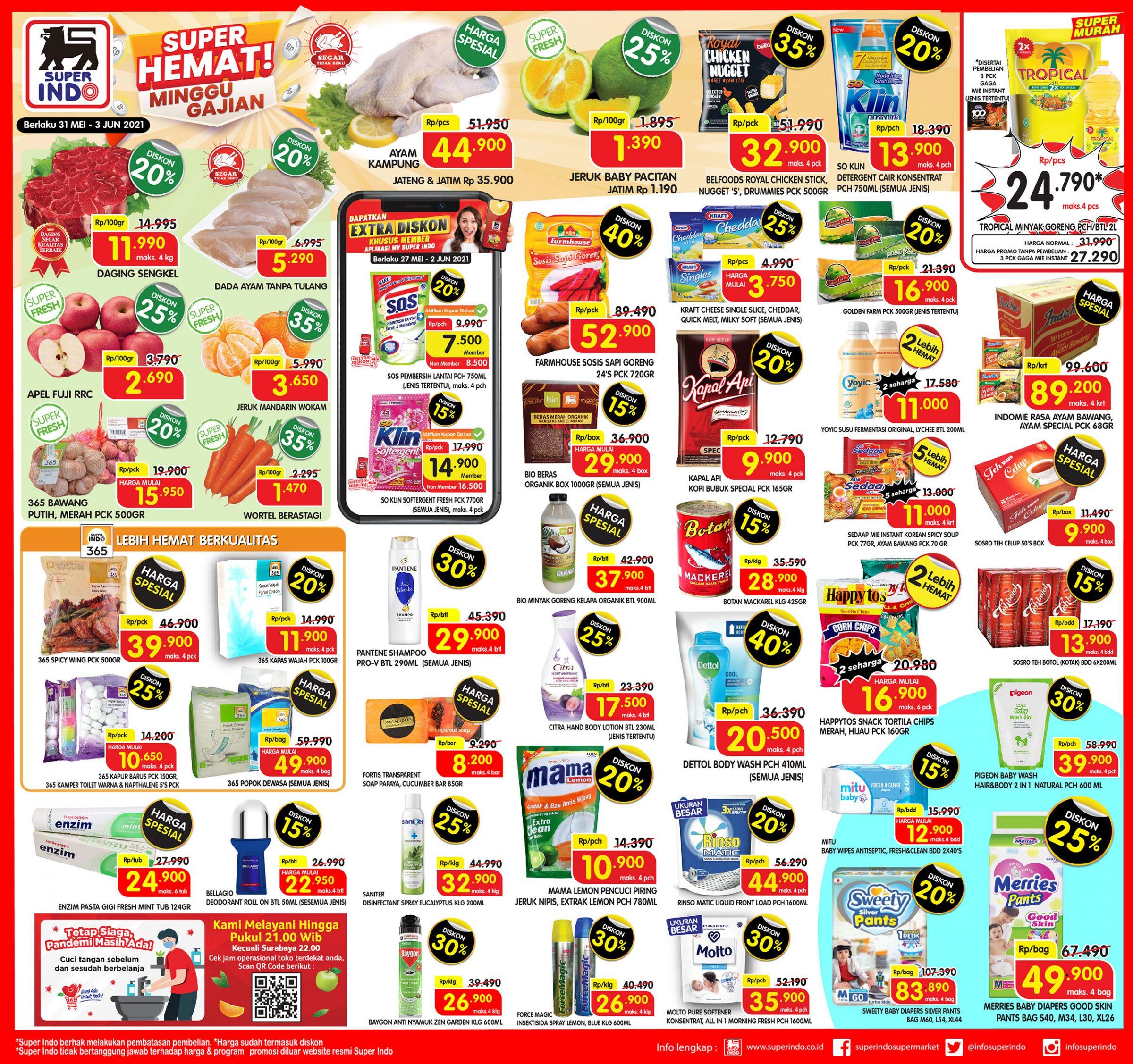 Promo Superindo Katalog Awal Pekan (Weekday) periode 31 Mei – 03 Juni 2021