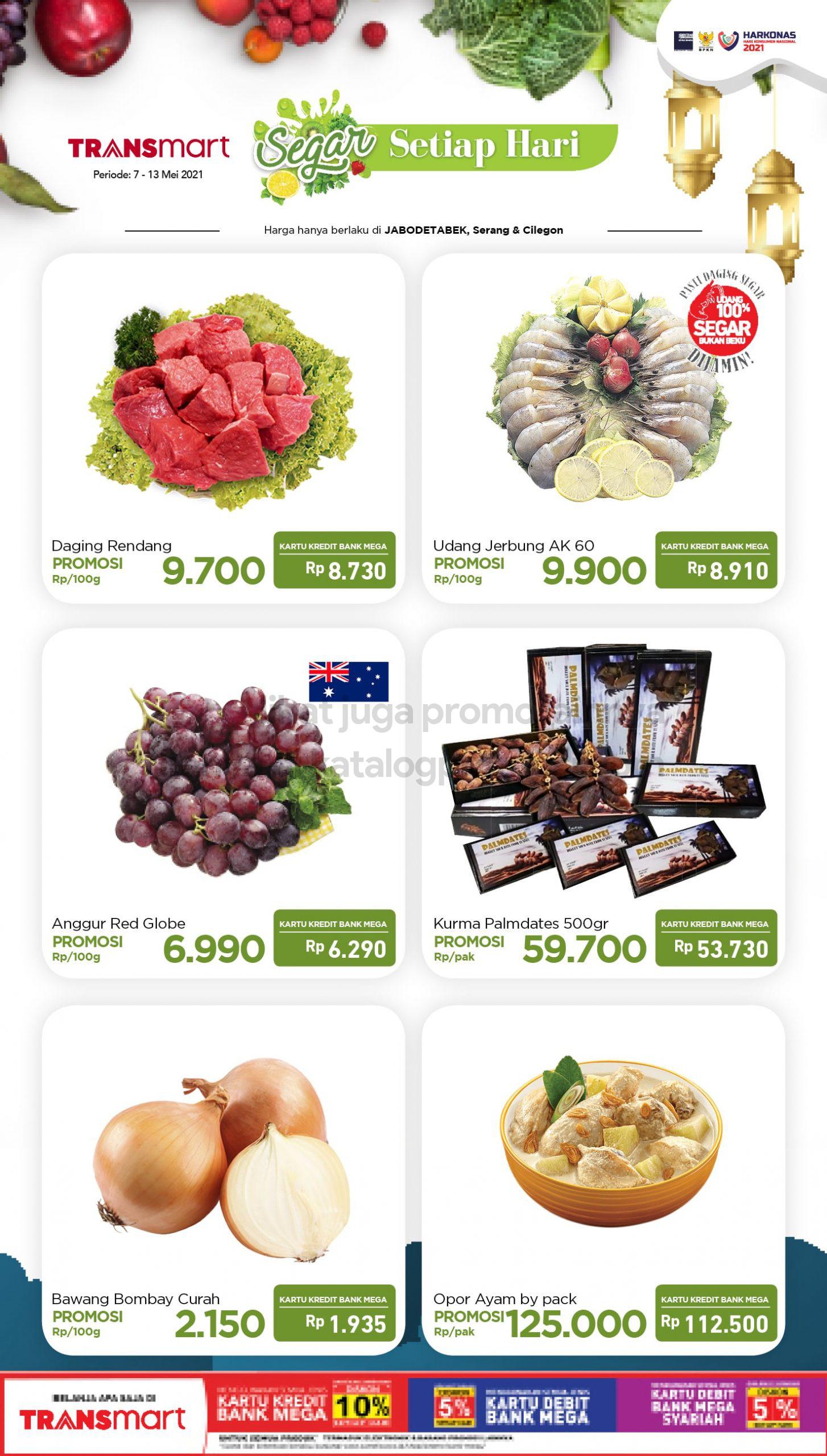 Promo TRANSMART CARREFOUR Katalog Promo HEMAT Produk FRESH periode 07-13 Mei 2021