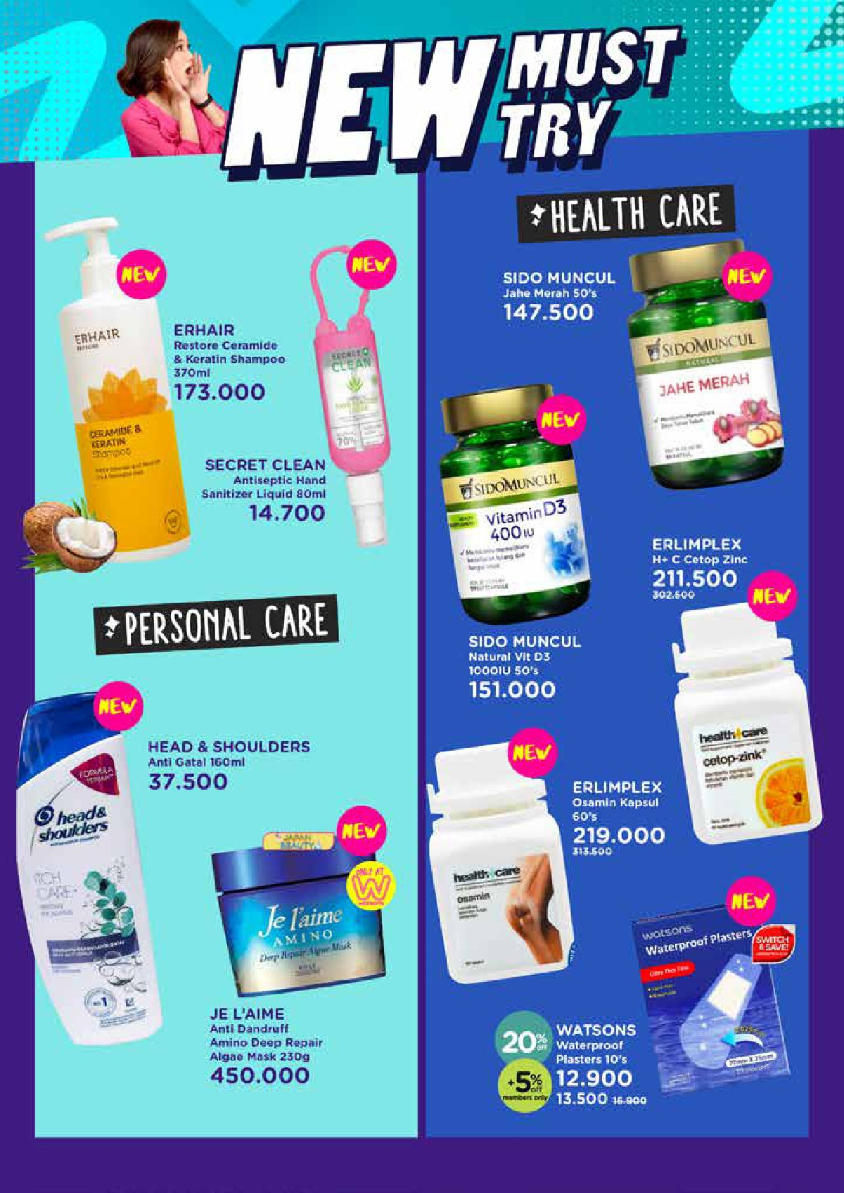 Katalog Belanja Watsons Terbaru - GLOW UP INSIDE OUT | Discount Up to 50% on your favorite products