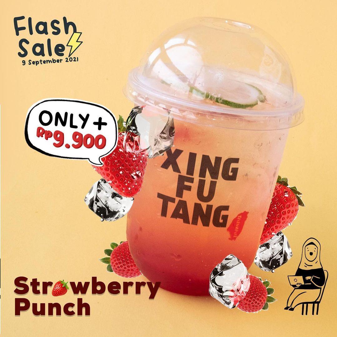 Promo XING FU TANG 9.9 FLASH SALE - Strawberry Punch / Tropical Sunshine / Strawberry Milk Boba cuma seharga Rp. 9.900
