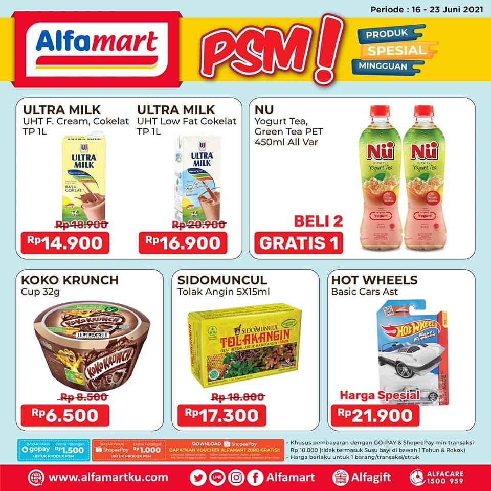 ALFAMART Promo PSM - Produk Spesial Mingguan periode 16-23 Juni 2021