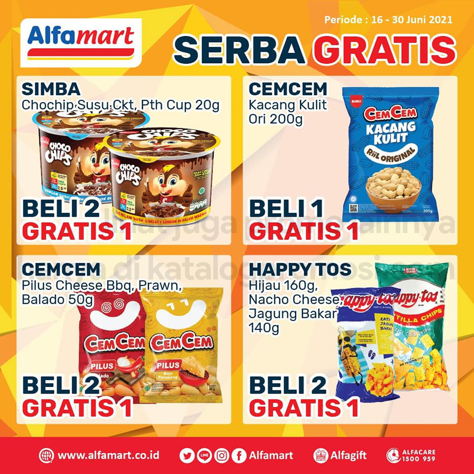 Promo ALFAMART Serba Gratis periode 16-30 Juni 2021