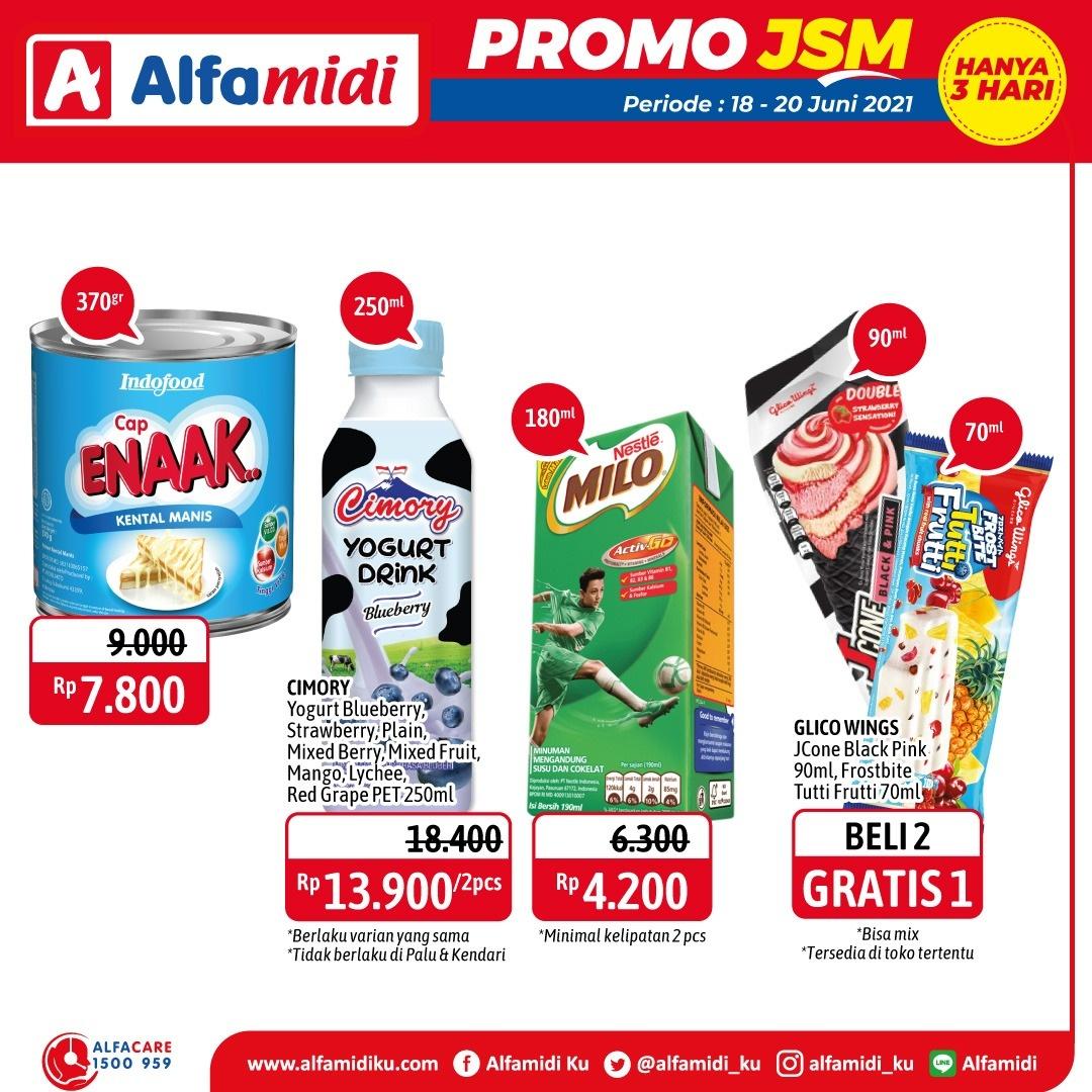 Promo ALFAMIDI JSM Weekend periode 18-20 Juni 2021