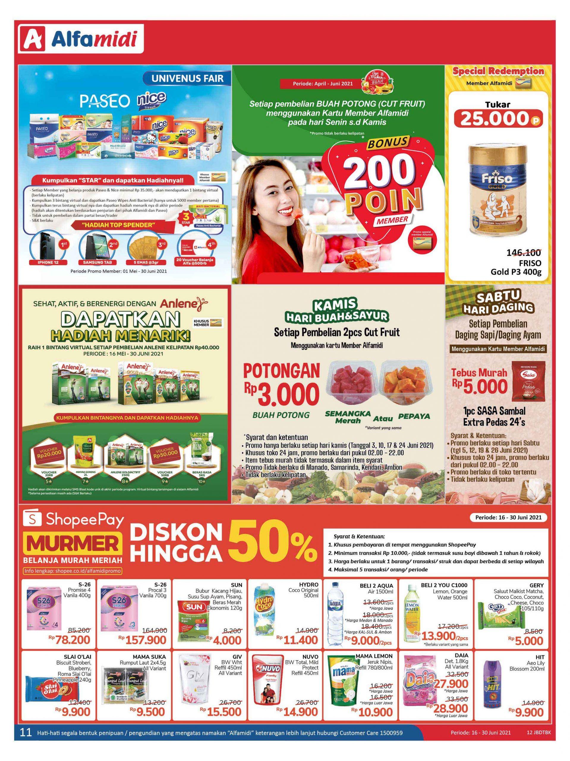 Katalog ALFAMIDI Promo Mingguan Periode 16-30 Juni 2021