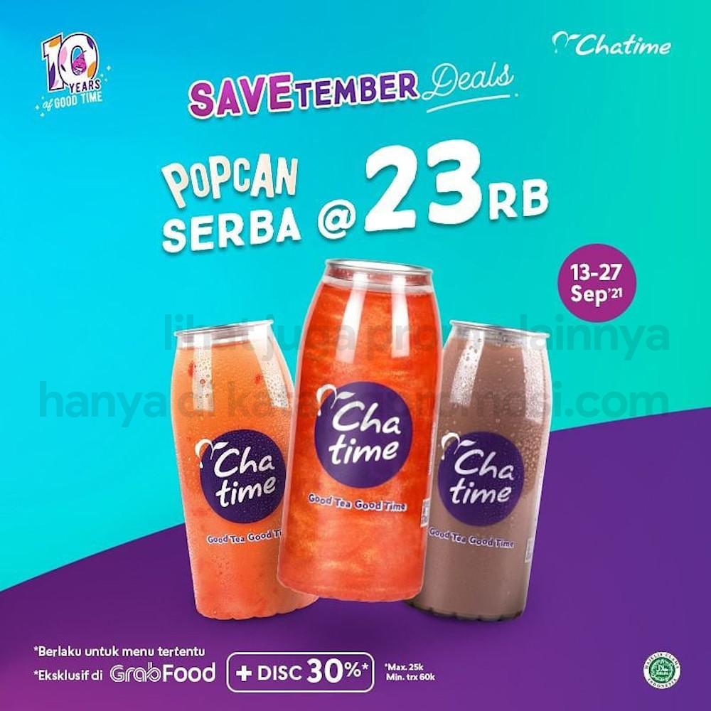 Promo CHATIME SAVETEMBER DEALS - BELI POPCAN SERBA 23RIBU