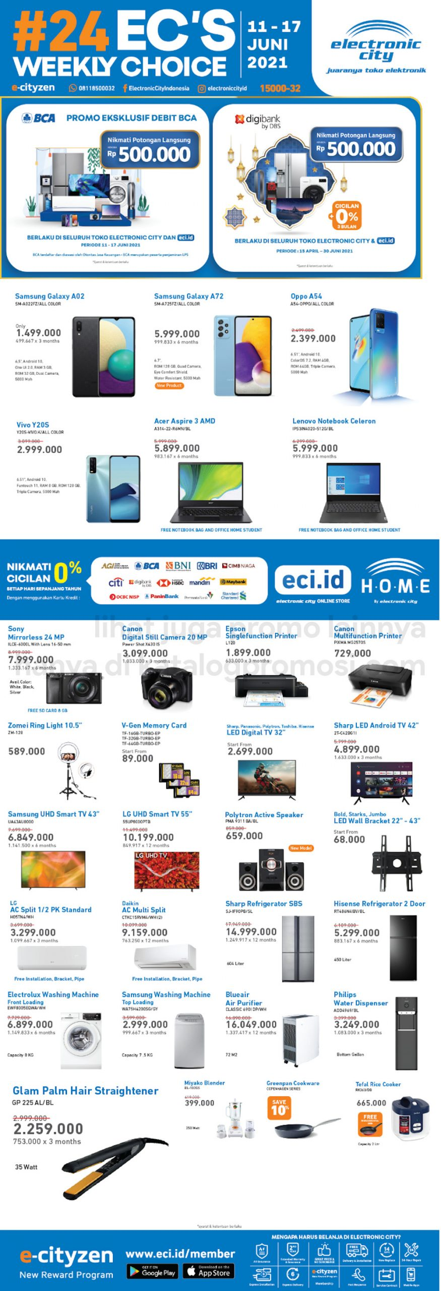 Promo Electronic City Katalog Weekly Special periode 11-17 Juni 2021