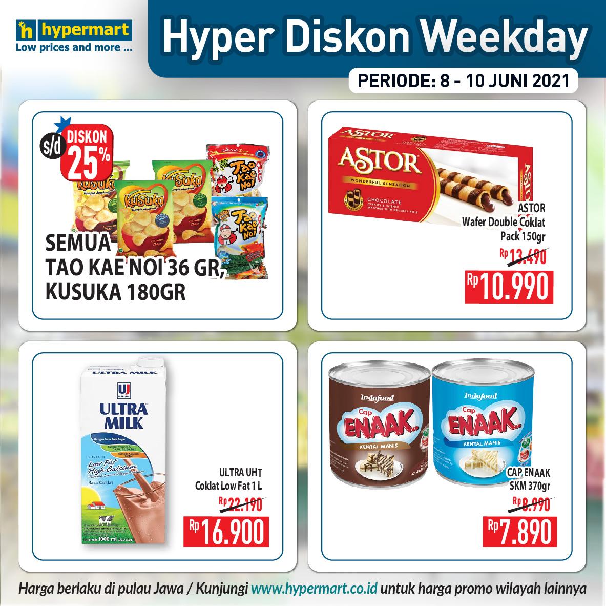 Katalog Hypermart Promo Weekday periode 08-10 Juni 2021