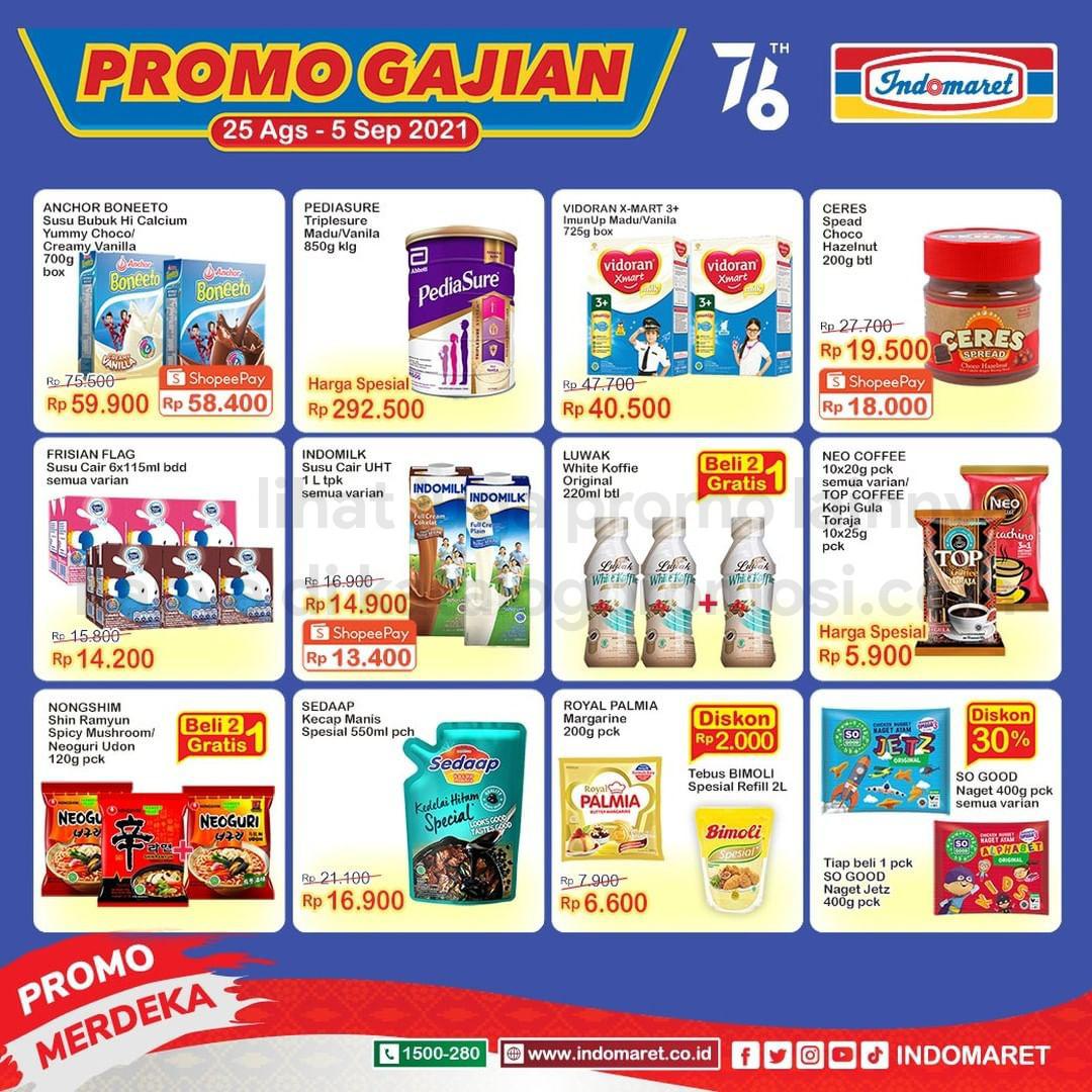 INDOMARET Promo GAJIAN periode 25 Agustus - 05 September 2021
