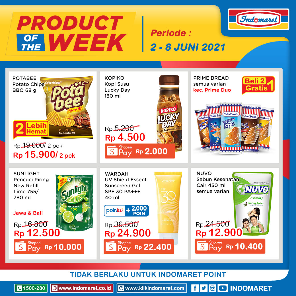 INDOMARET Promo PRODUCT of The Week periode 02-08 Juni 2021