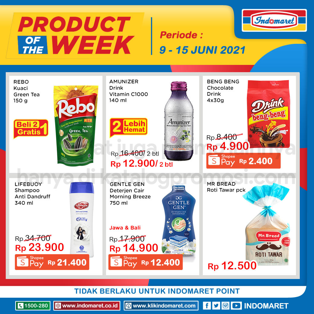 INDOMARET Promo PRODUCT of The Week periode 16-22 Juni 2021