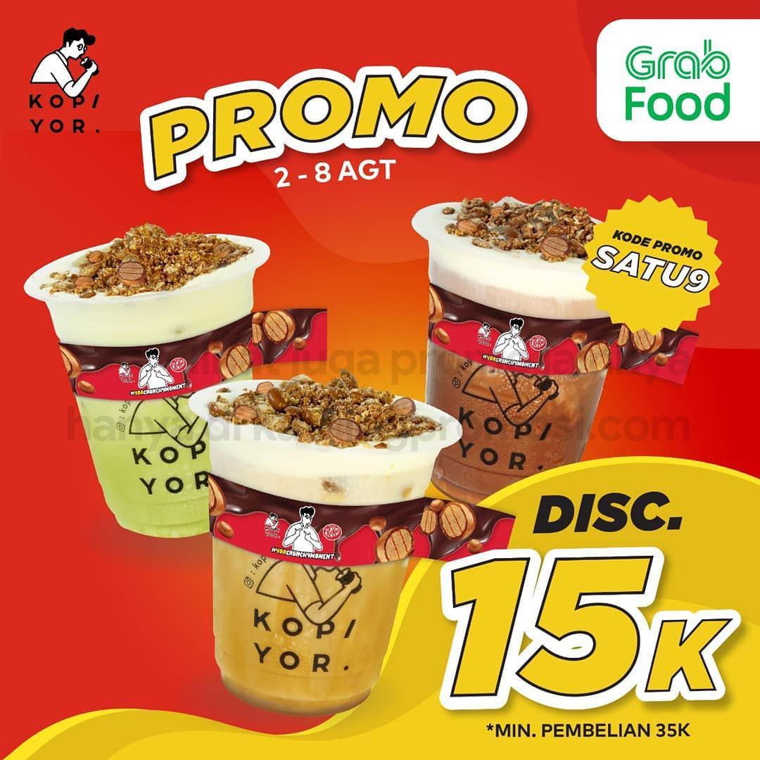 KOPI YOR Promo DISKON hingga 35% khusus pemesanan via GRABFOOD