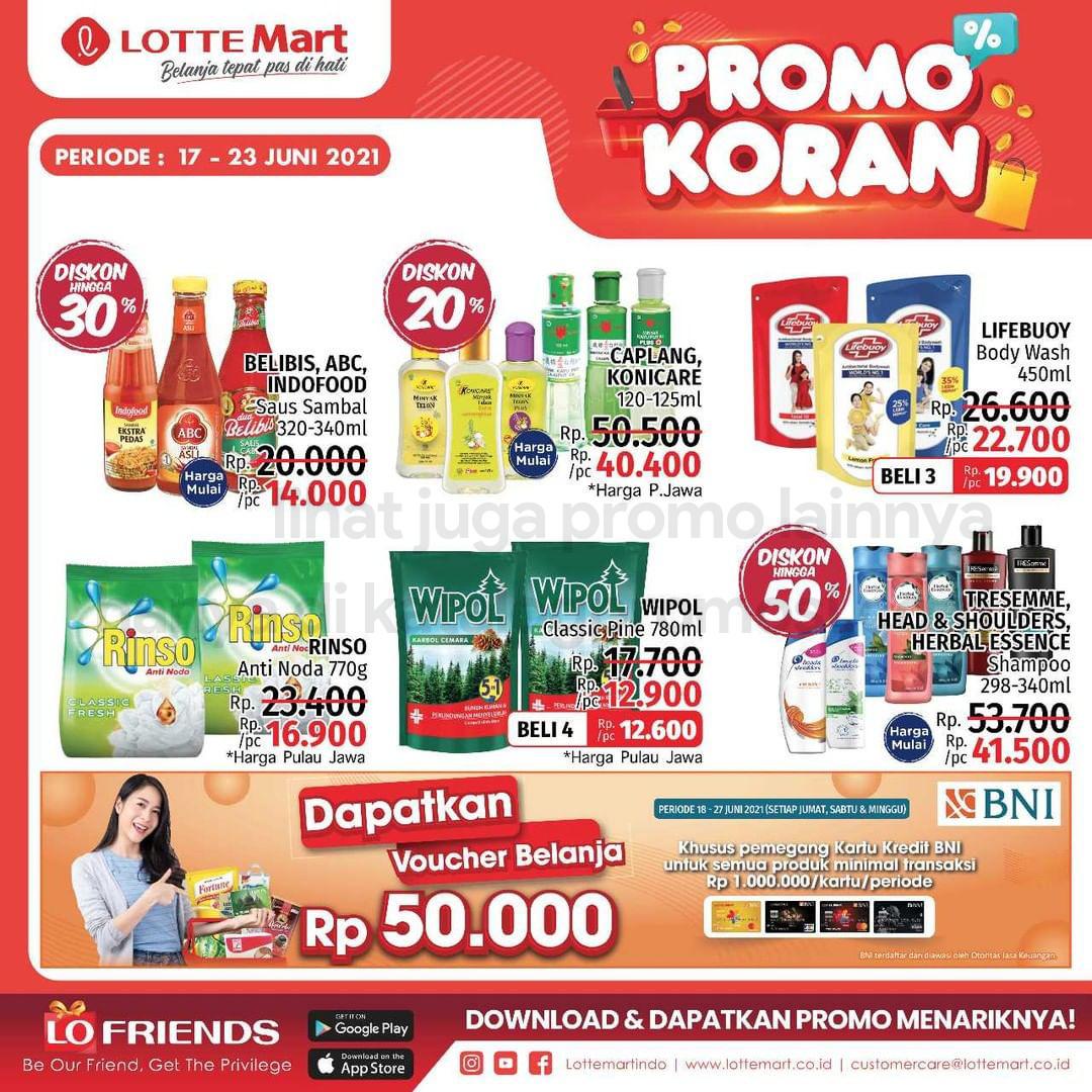 Katalog Promo LOTTEMART RETAIL WEEKEND periode 17-23 Juni 2021