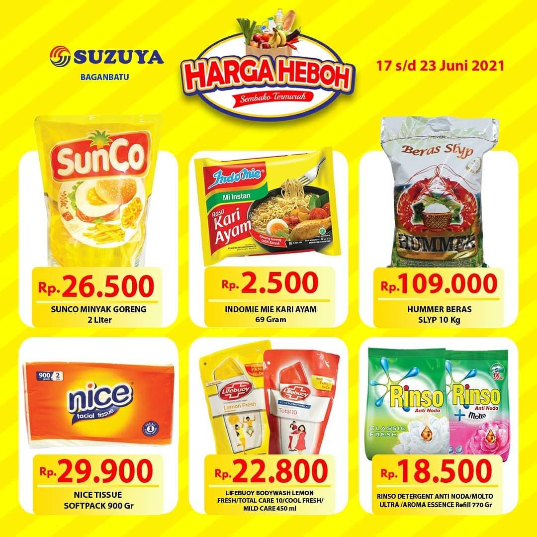 Promo SUZUYA SUPERSTORE Katalog Weekend Harga Heboh periode 17-23 Juni 2021