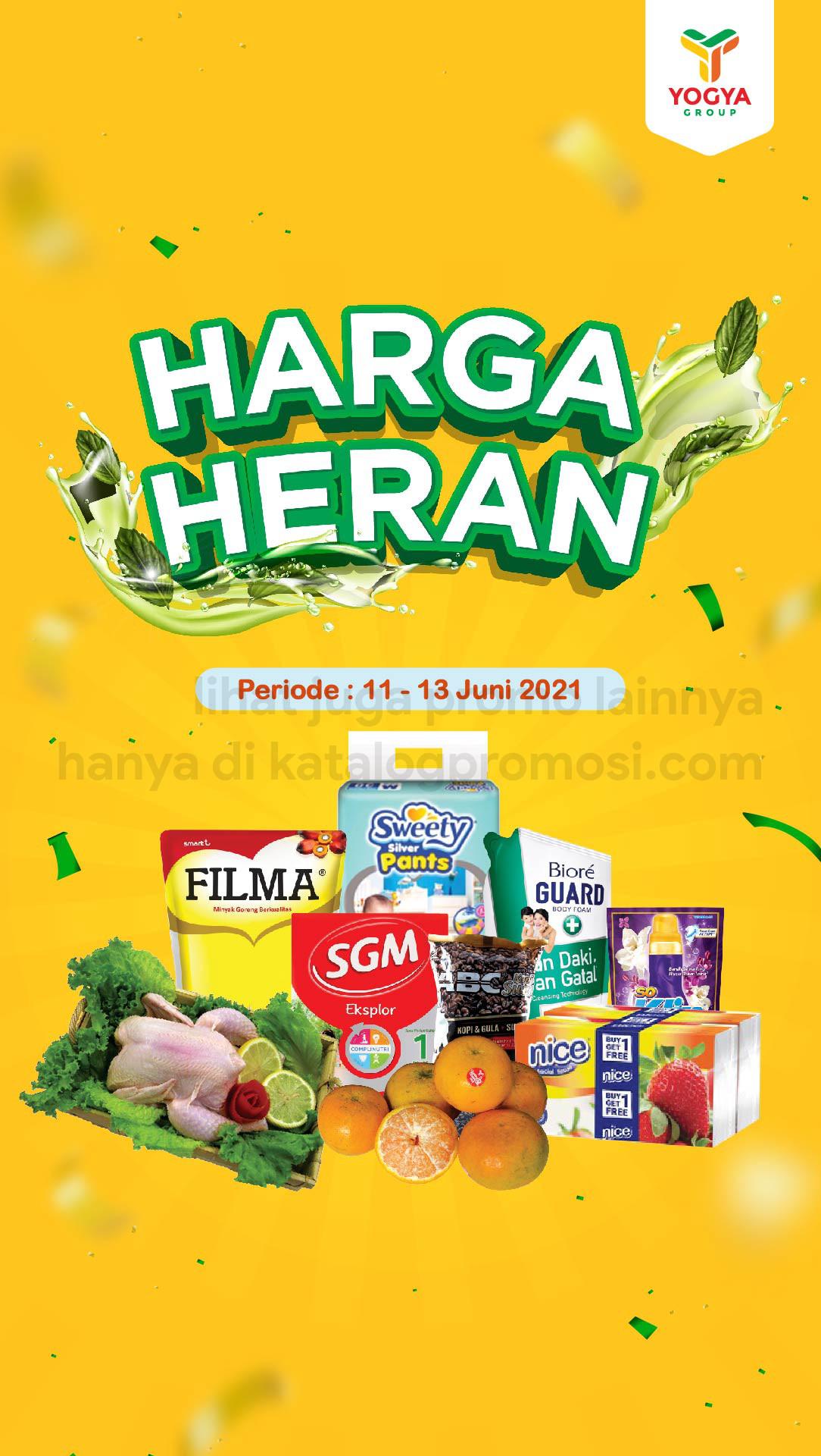 Katalog TOSERBA YOGYA WEEKEND Promo HARGA HERAN periode 11-13 Juni 2021