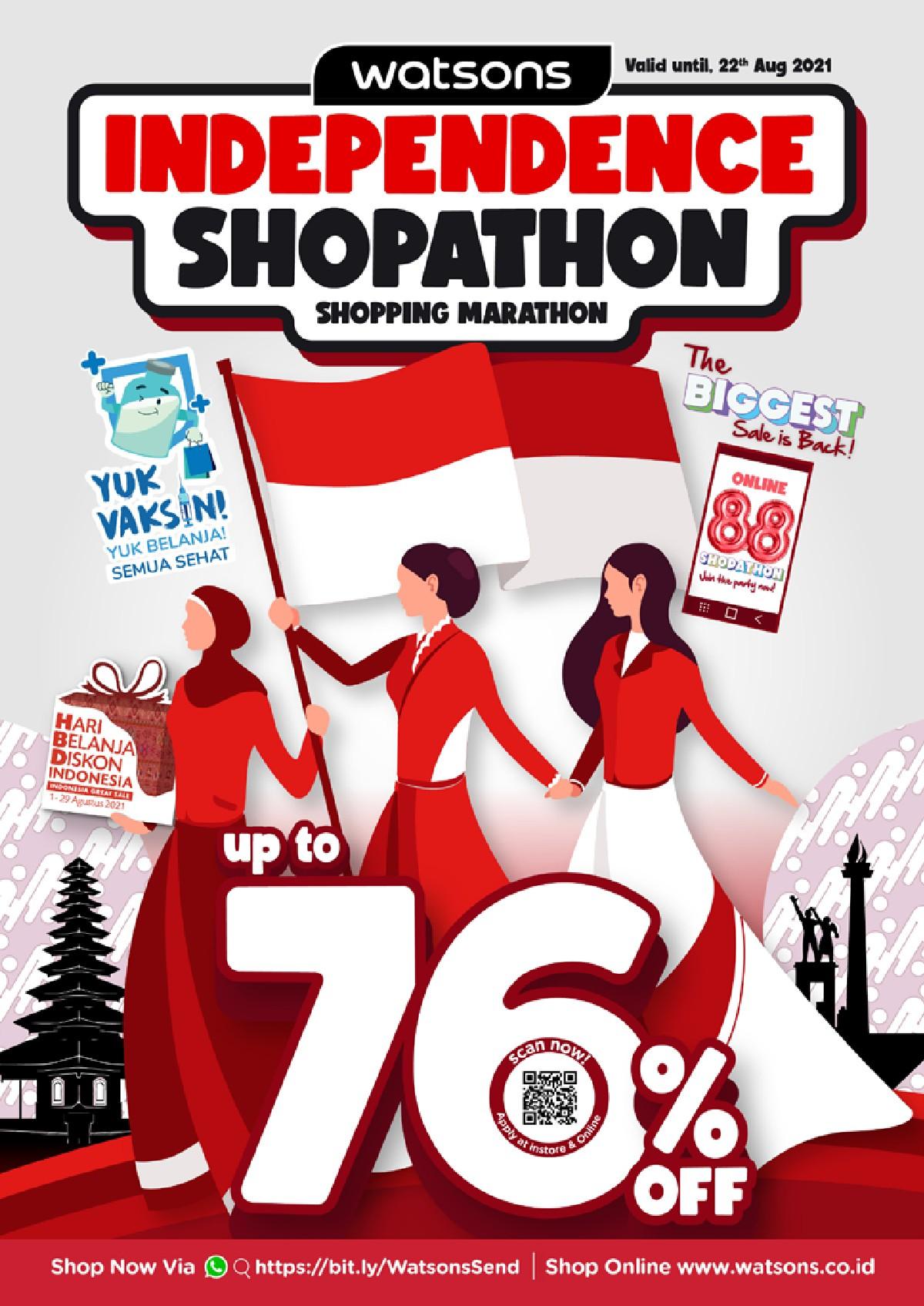 Katalog Belanja Watsons Terbaru - Independence Shopaton | Discount Up to 76% on your favorite products