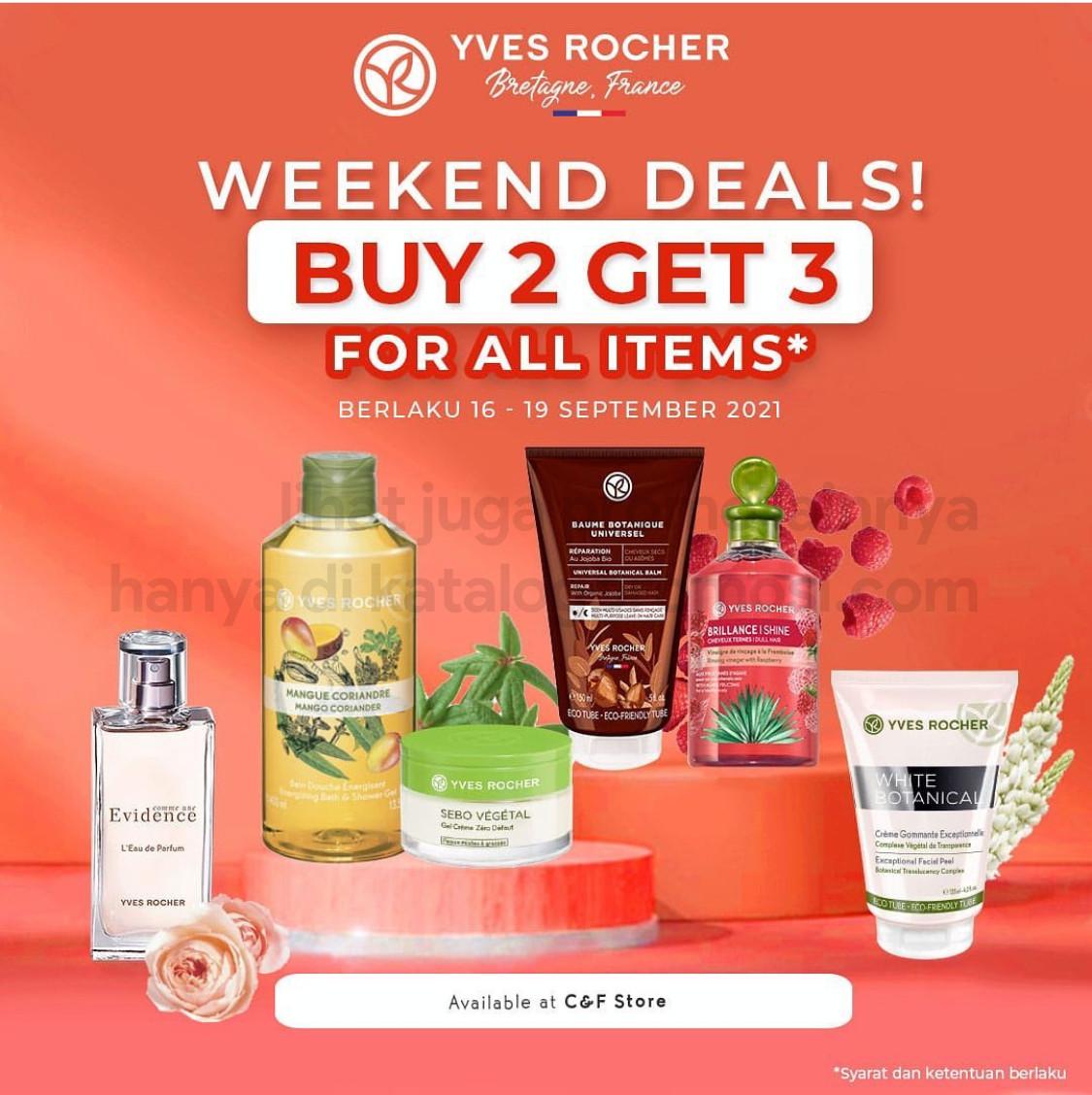 Promo YVES ROCHER WEEKEND DEALS - BELI 2 GRATIS 1