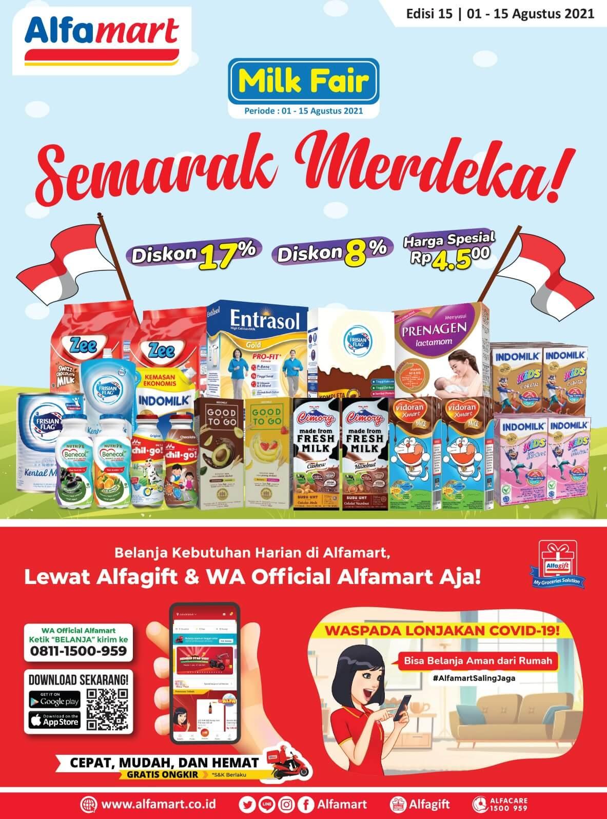 Promo ALFAMART TERBARU periode 01-15 Agustus 2021