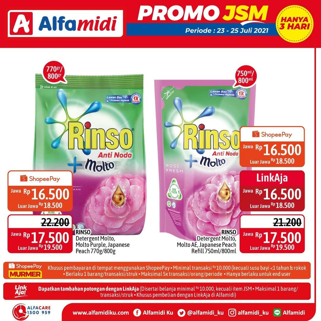 Promo ALFAMIDI JSM Weekend periode 23-25 Juli 2021
