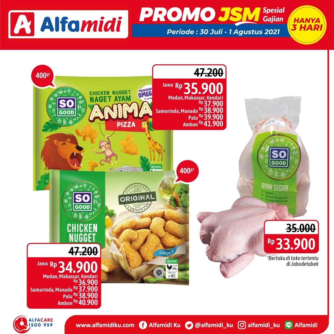Promo ALFAMIDI JSM Weekend periode 30 Juli - 01 Agustus 2021