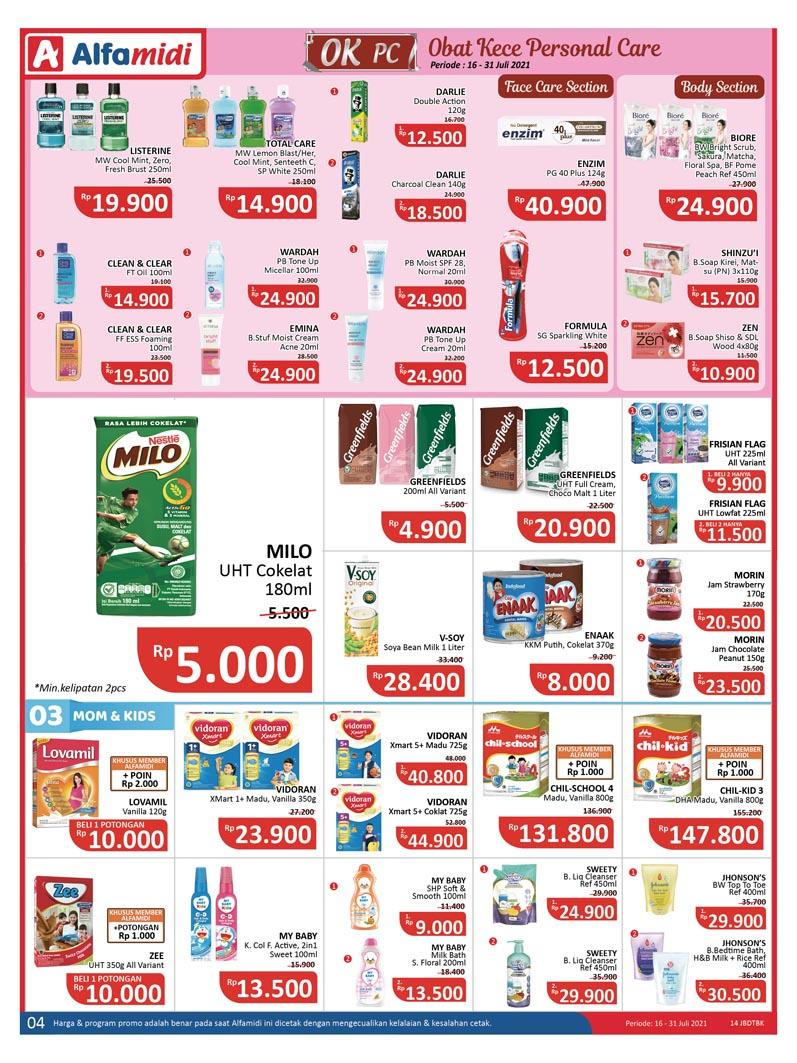 Katalog ALFAMIDI Promo Mingguan Periode 16-31 Juli 2021