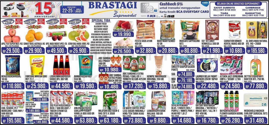 KATALOG BRASTAGI SUPERMARKET Promo Weekend periode 22-25 Juli 2021