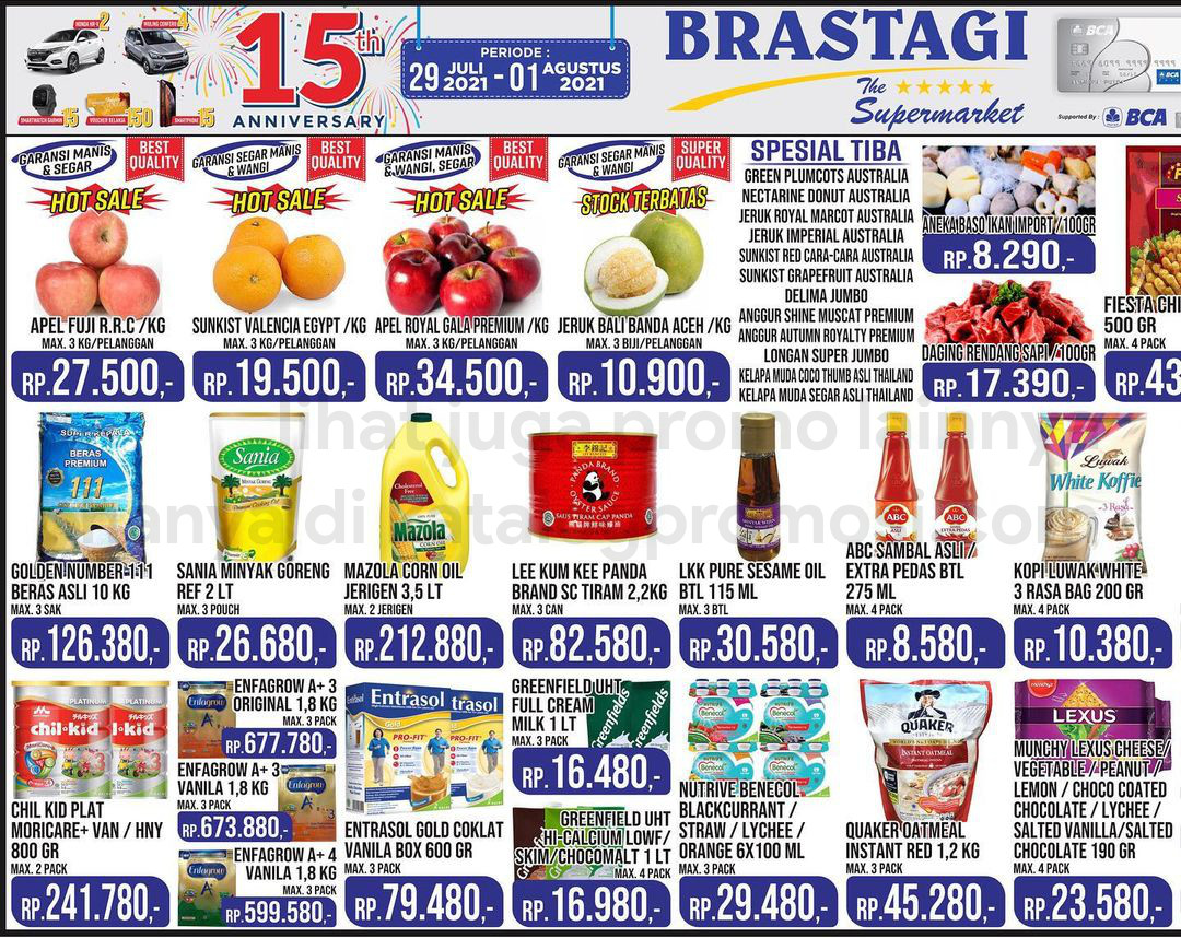 KATALOG BRASTAGI SUPERMARKET Promo Weekend periode 29 Juli - 01 Agustus 2021