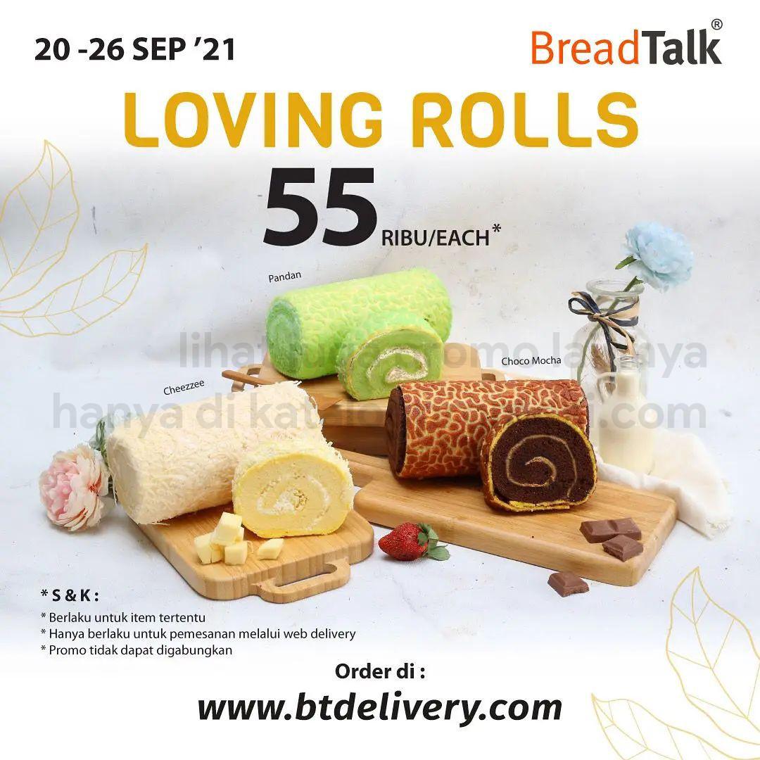 Promo BREADTALK Minggu ini - LOVING ROLLS! BreadTalk Roll Cakes hanya Rp. 55.000 berlaku tanggal 20-26 September 2021