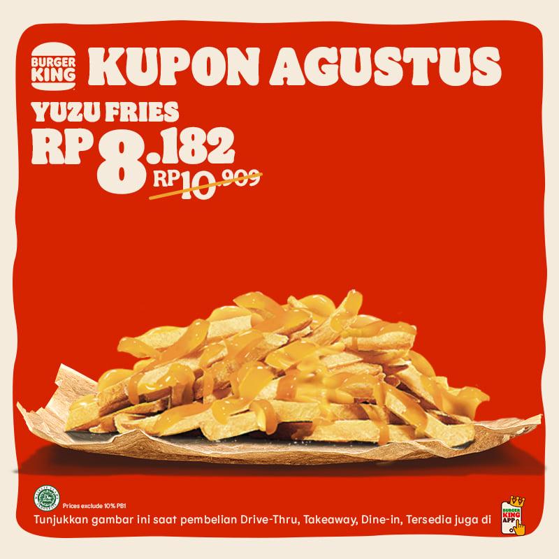 KUPON BURGER KING khusus untuk bulan AGUSTUS 2021