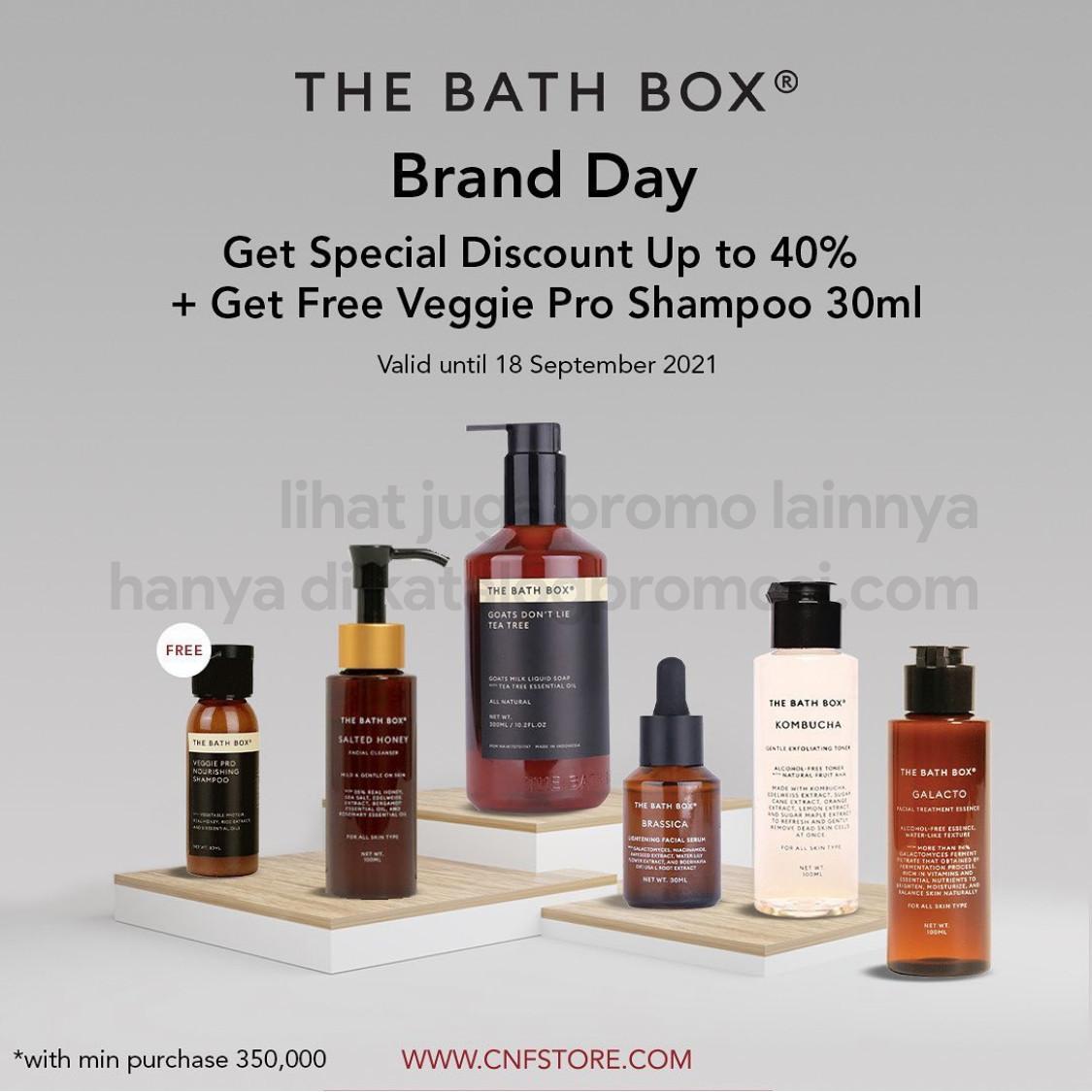 Promo C&F The Bath Box Brand Day - Diskon hingga 40% + FREE Veggie Pro Shampoo 30ml