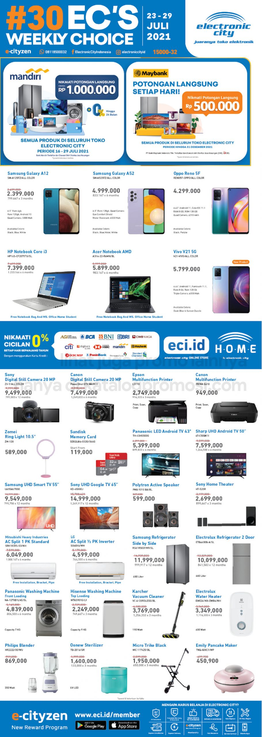 Promo Electronic City Katalog Weekly Special periode 23-29 Juli 2021