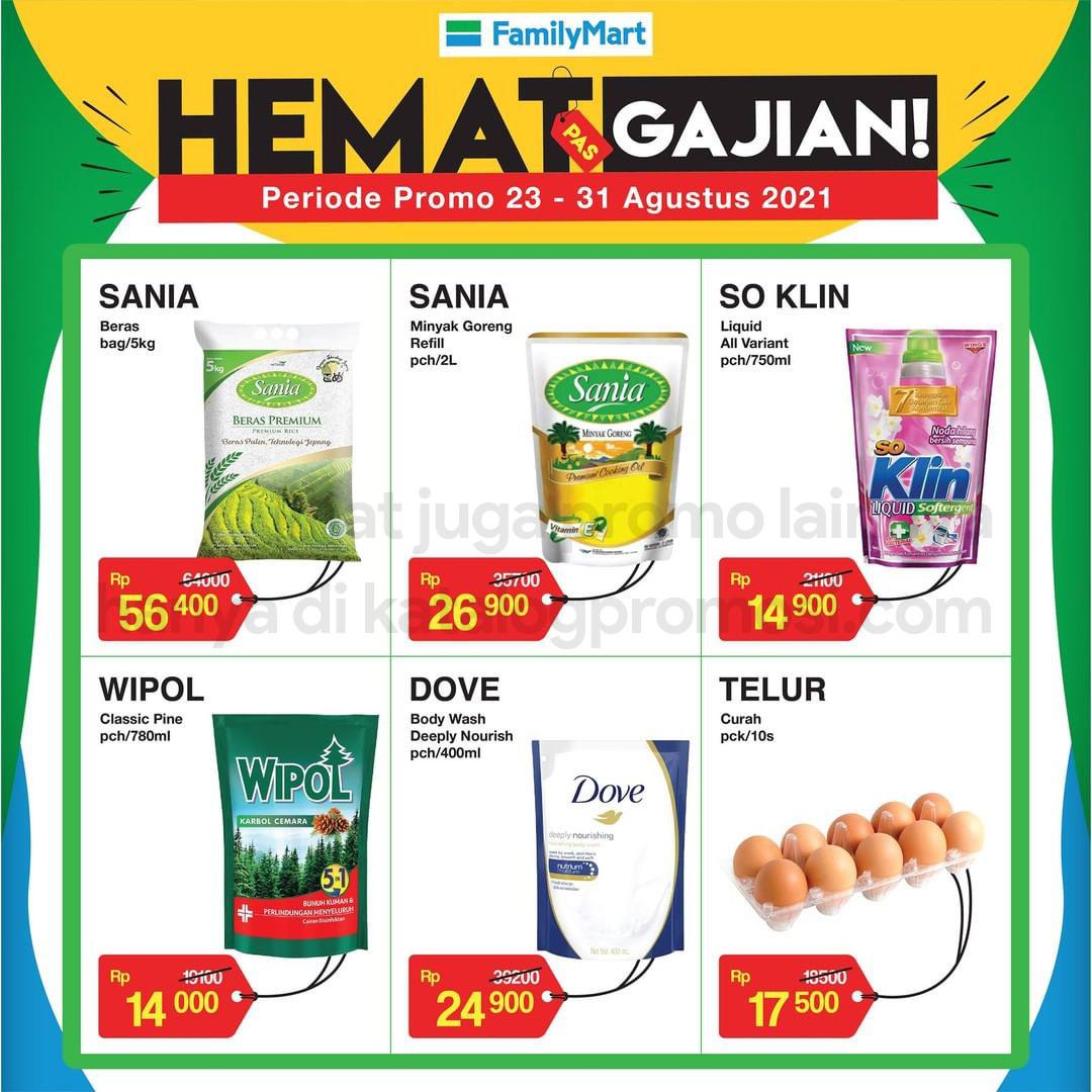Promo FAMILYMART Katalog Weekend JSM HEMAT PAS GAJIAN periode 23-31 Agustus 2021