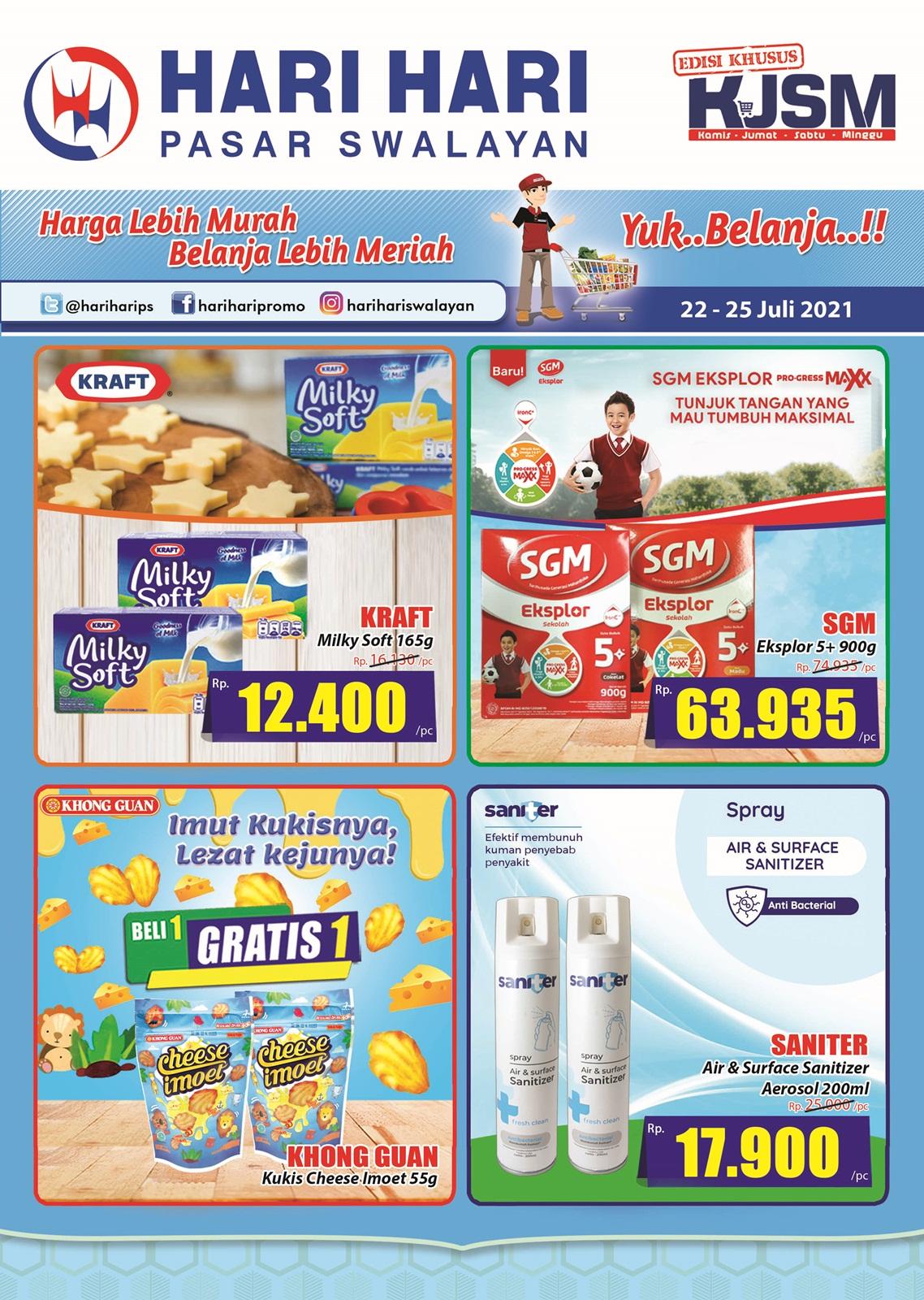 Promo Hari Hari Pasar Swalayan Weekend JSM Periode 22-25 Juli 2021