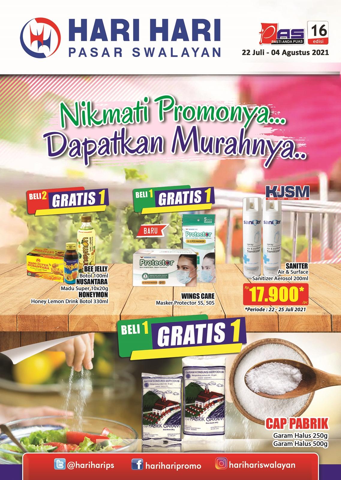 Promo Hari Hari Pasar Swalayan Katalog Mingguan Periode 22 Juli - 04 Agustus 2021