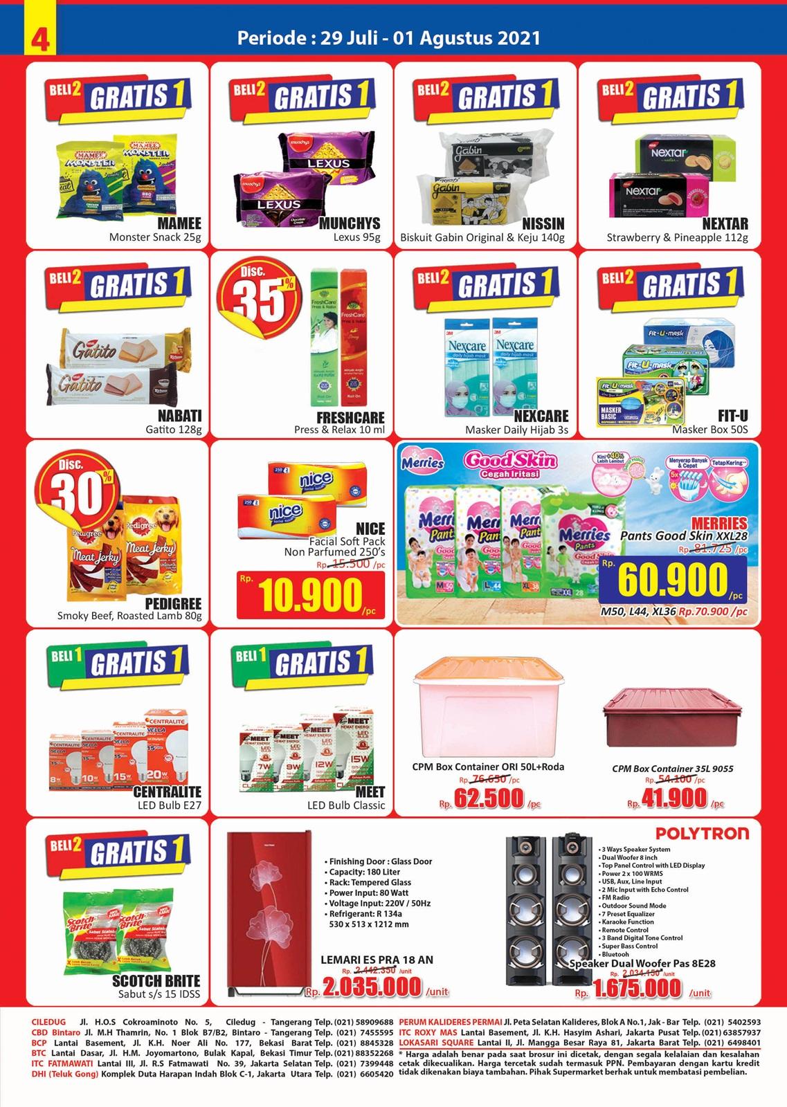 Promo Hari Hari Pasar Swalayan Weekend JSM Periode 29 Juli - 01 Agustus 2021