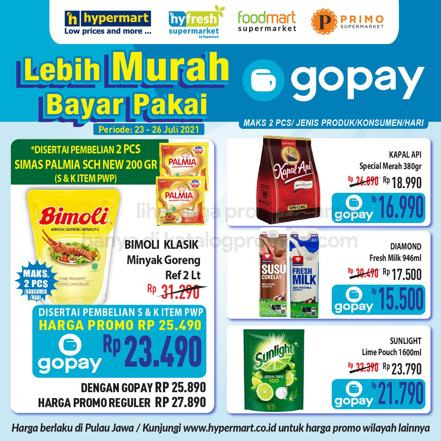 Promo HYPERMART - HARGA SPESIAL untuk transaksi pakai GOPAY