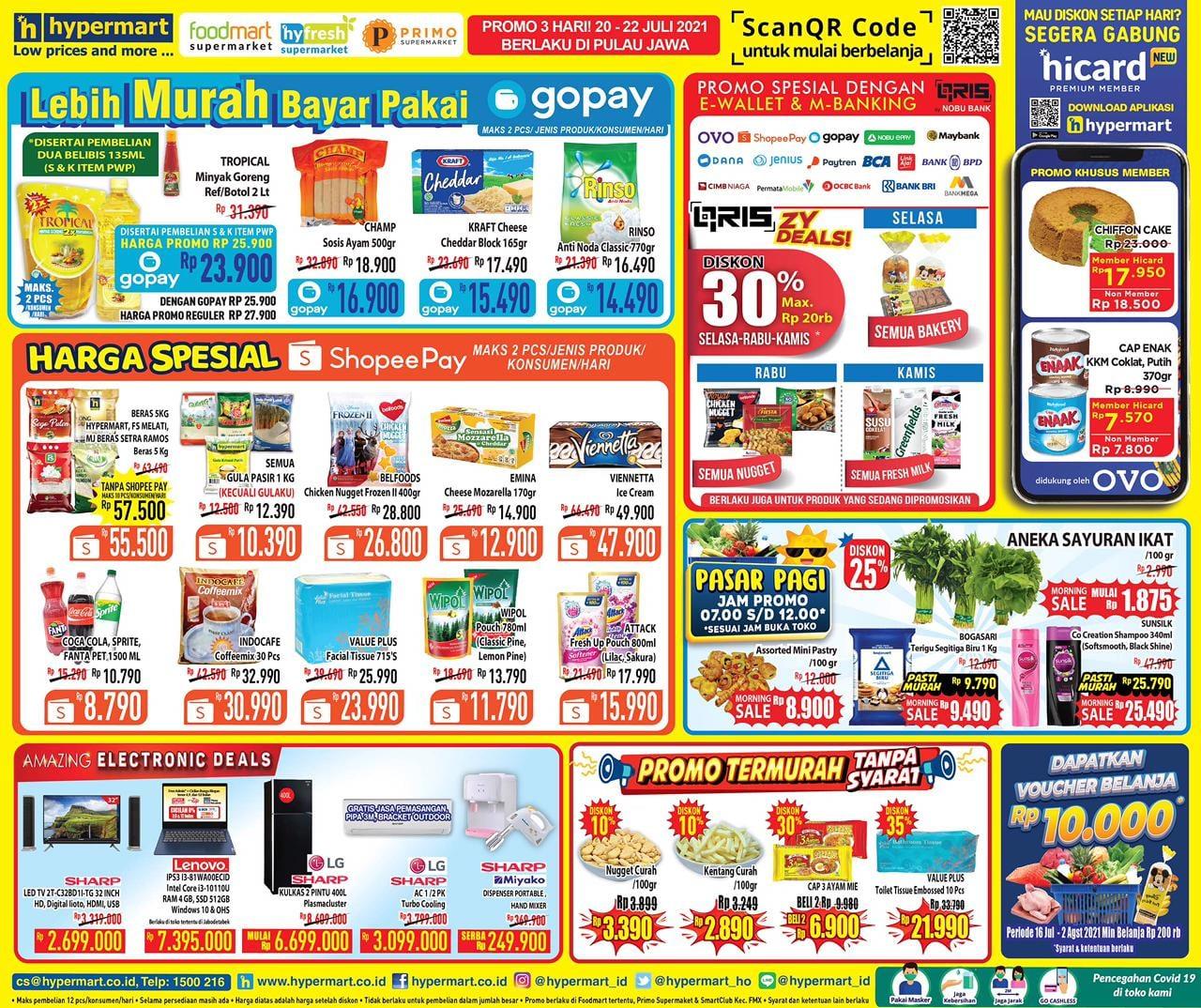 Katalog Hypermart Promo Weekday periode 20-22 Juli 2021