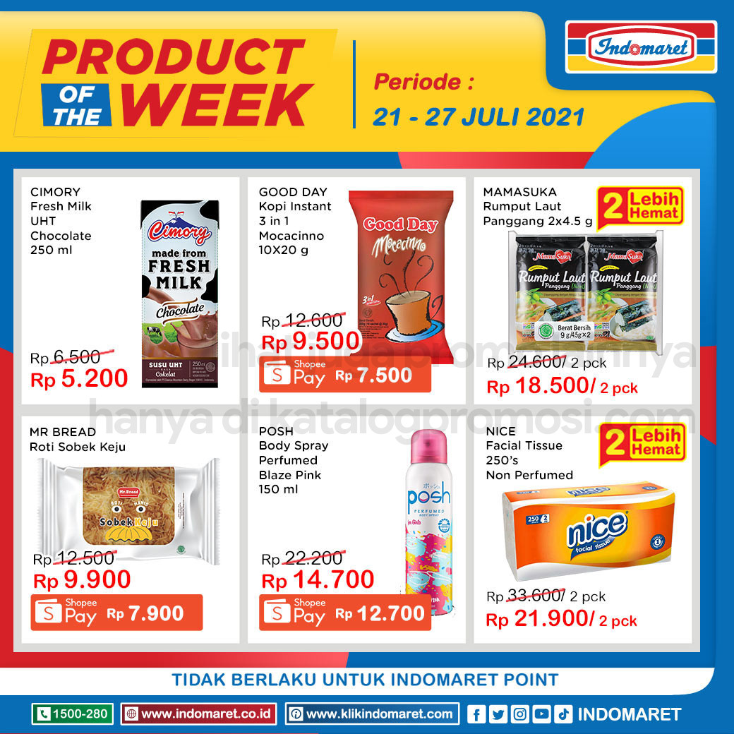 INDOMARET Promo PRODUCT of The Week periode 21-27 Juli 2021