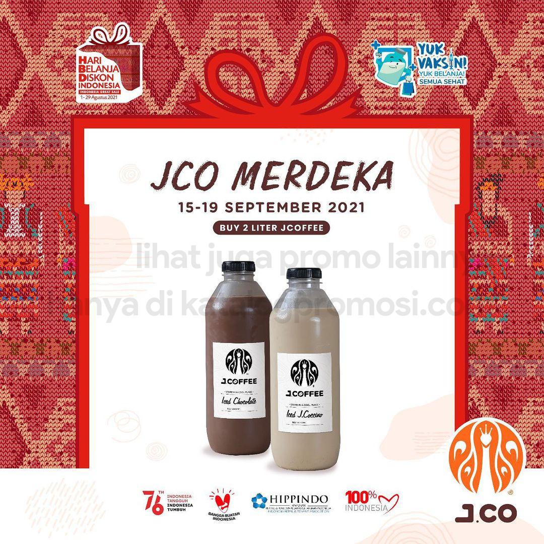 Promo JCO KHUSUS DELIVERY! Paket 2 botol JCOFFEE ukuran 1 liter hanya Rp. 110.000