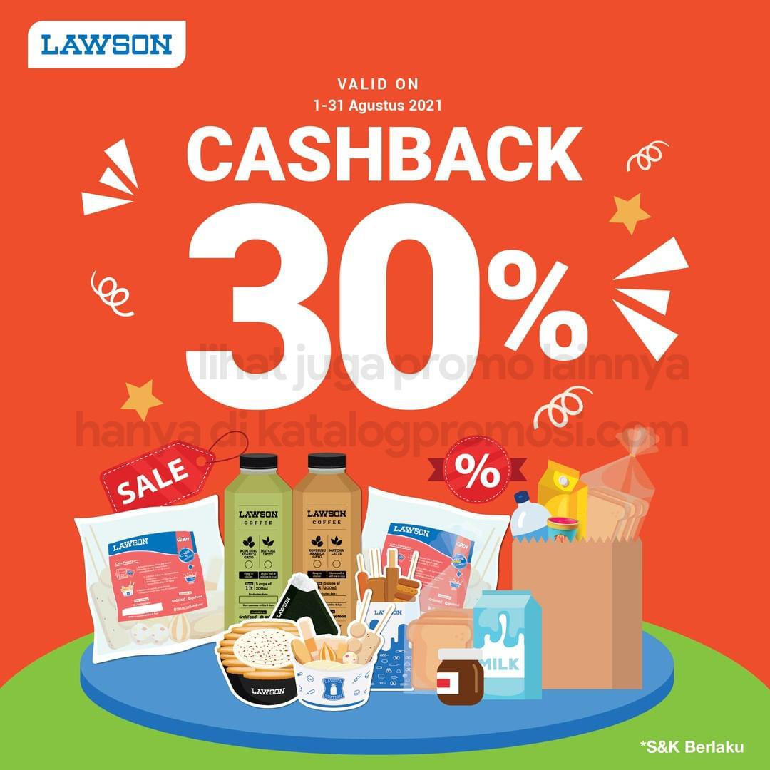 LAWSON Promo Cashback 30% Dengan Pembayaran Dengan ShopeePay