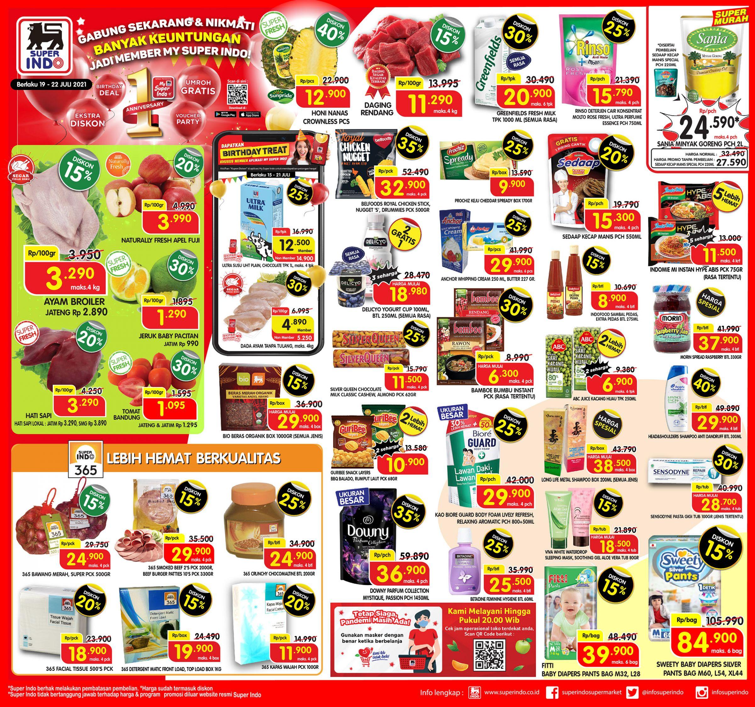 Promo Superindo Katalog Awal Pekan (Weekday) periode 19-22 Juli 2021