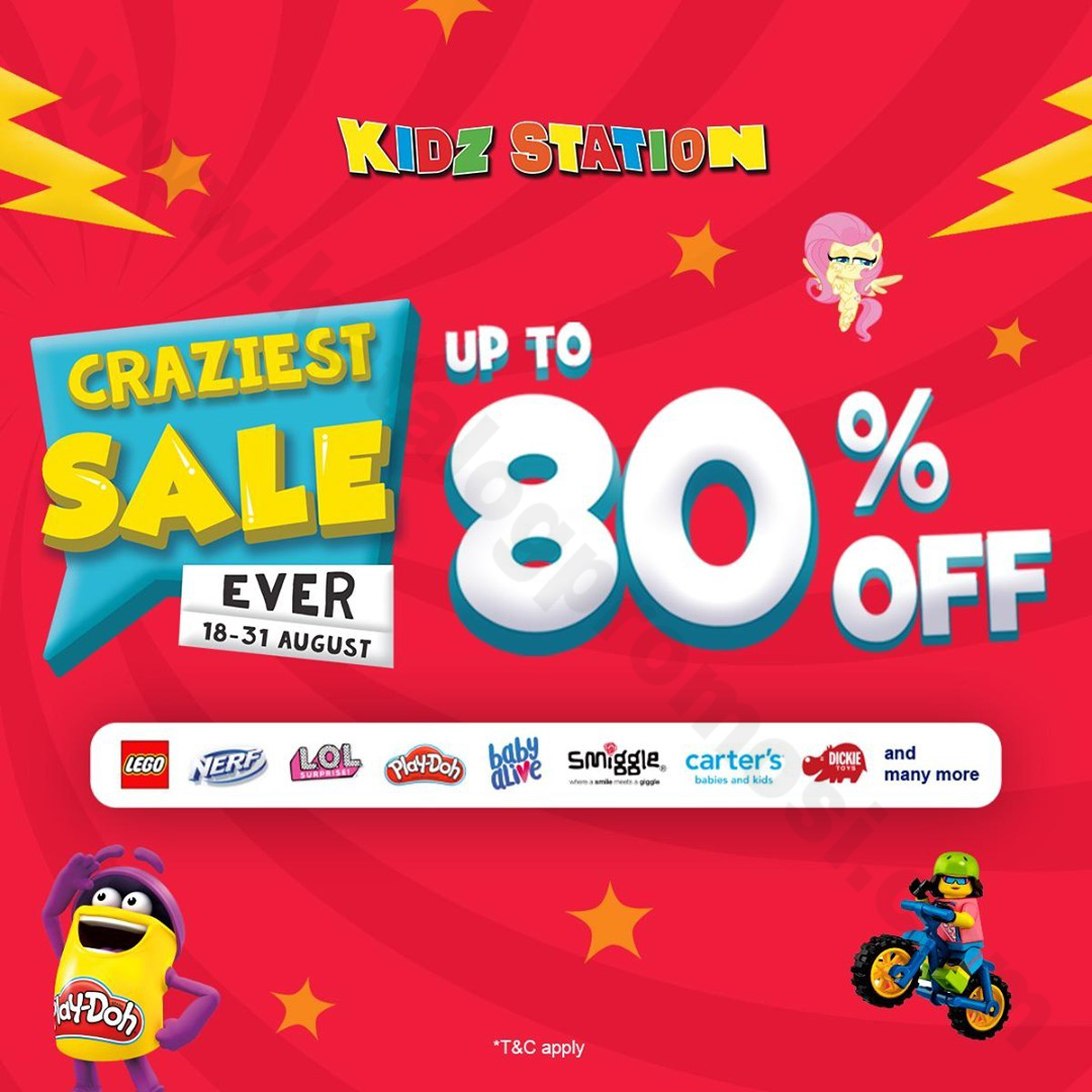 Kidz Station CRAZIEST SALE! Promo Up to 80% Off Exclusive at MAPCLUB