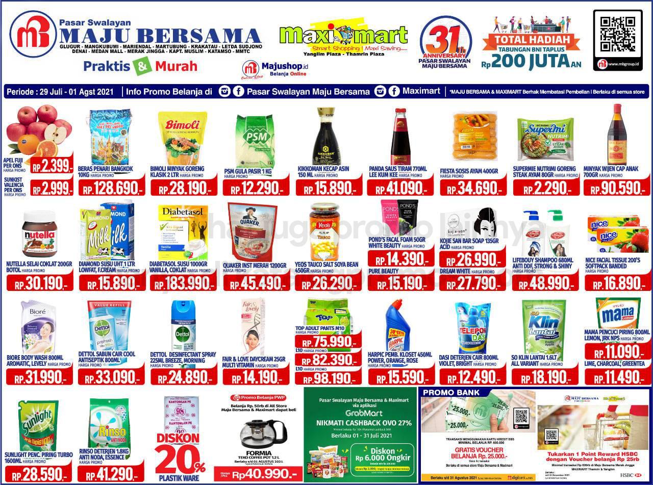 Katalog Maximart Promo Weekend Periode 29 Juli - 01 Agustus 2021