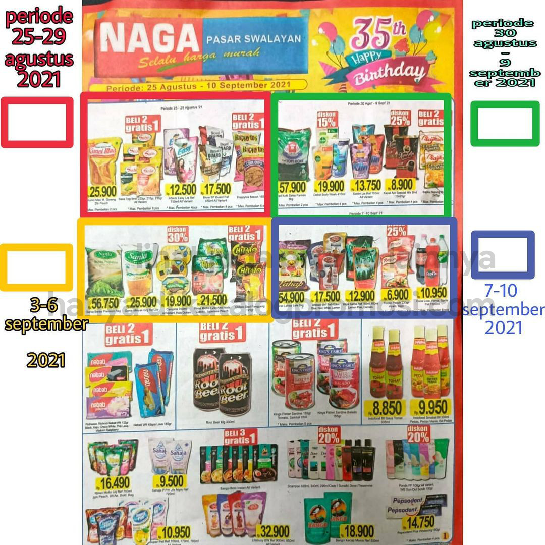 Katalog Promo NAGA SWALAYAN Terbaru Periode 25 Agustus - 10 September 2021
