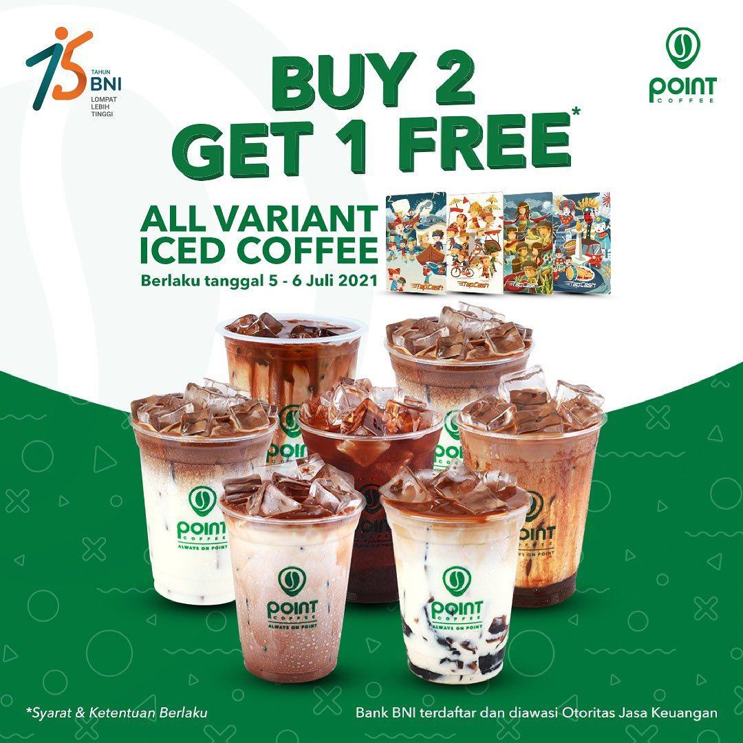 Promo POINT COFFEE BELI 2 GRATIS 1 dengan TAPCASH BNI