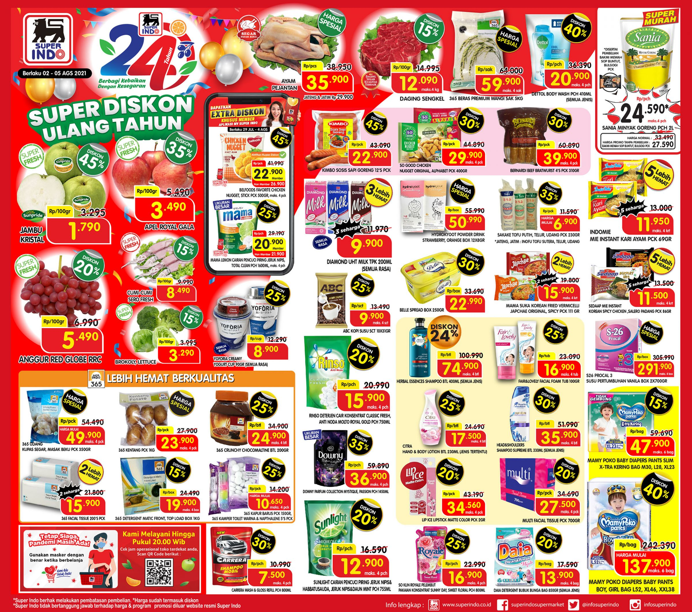 Promo Superindo Katalog Awal Pekan (Weekday) periode 02-05 Agustus 2021