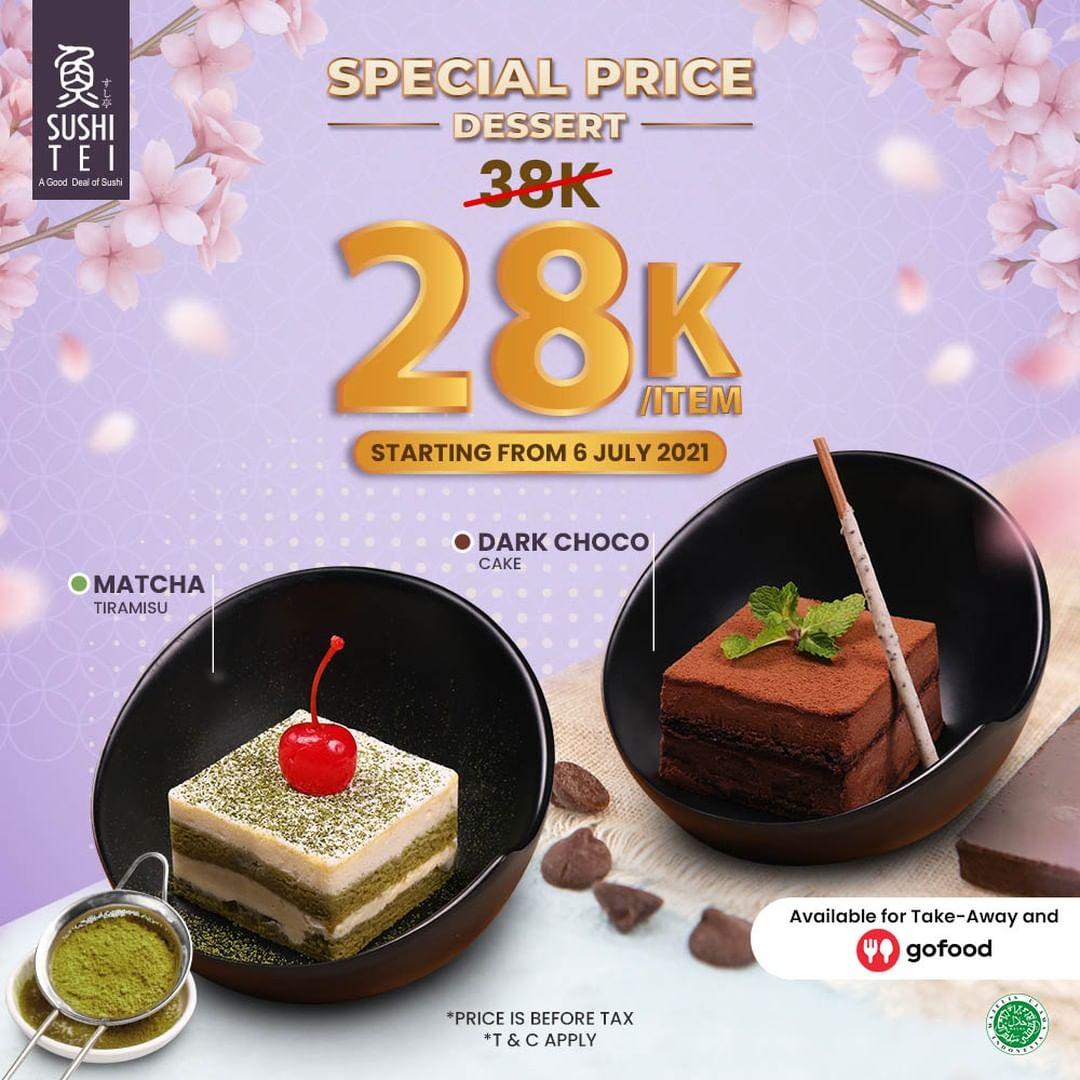 Promo Sushi Tei Special Price Dark Choco Cake / Matcha Tiramisu cuma Rp. 28.000