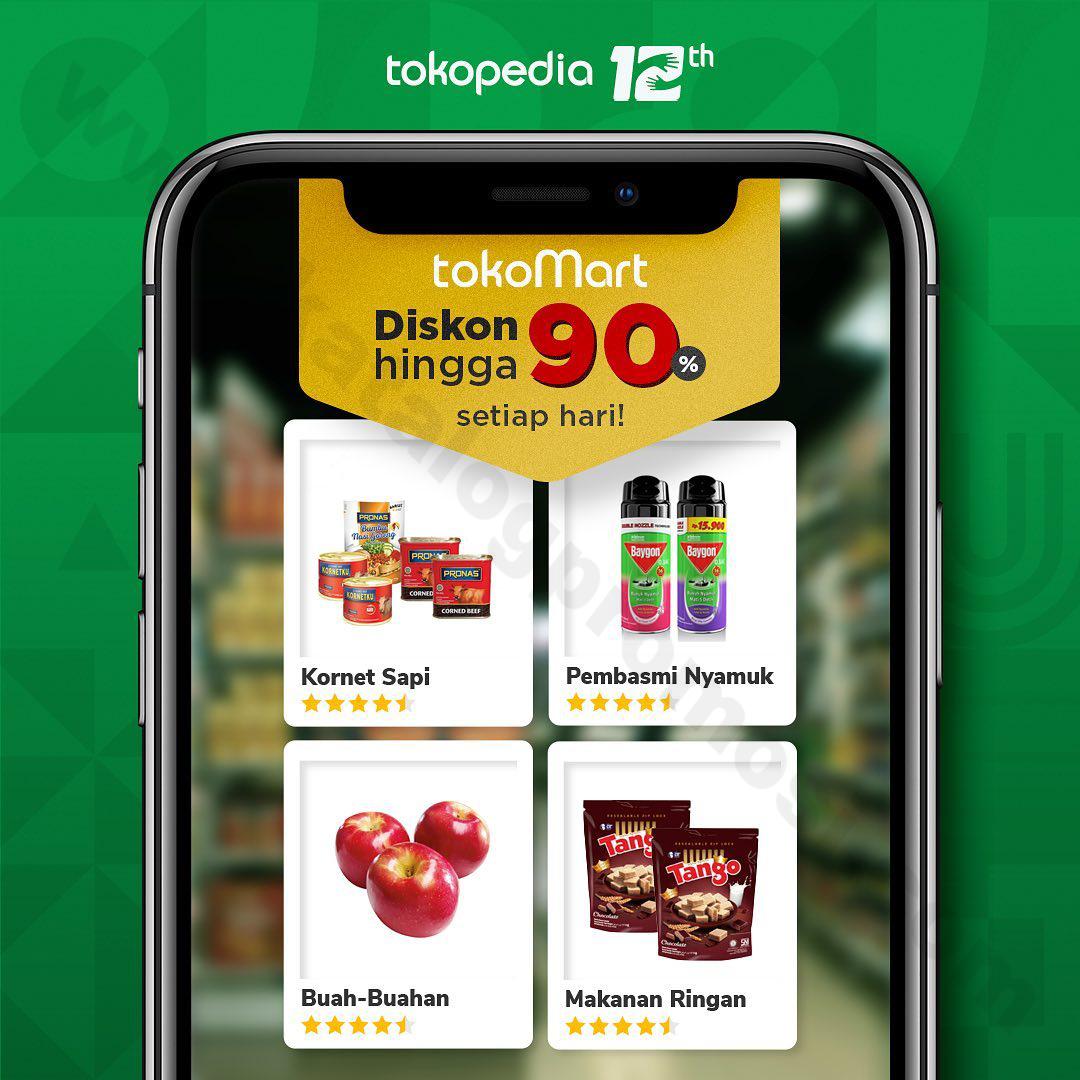 Belanja Kebutuhan Harian di TokoMart Setiap Hari DISKON S/D 90%!