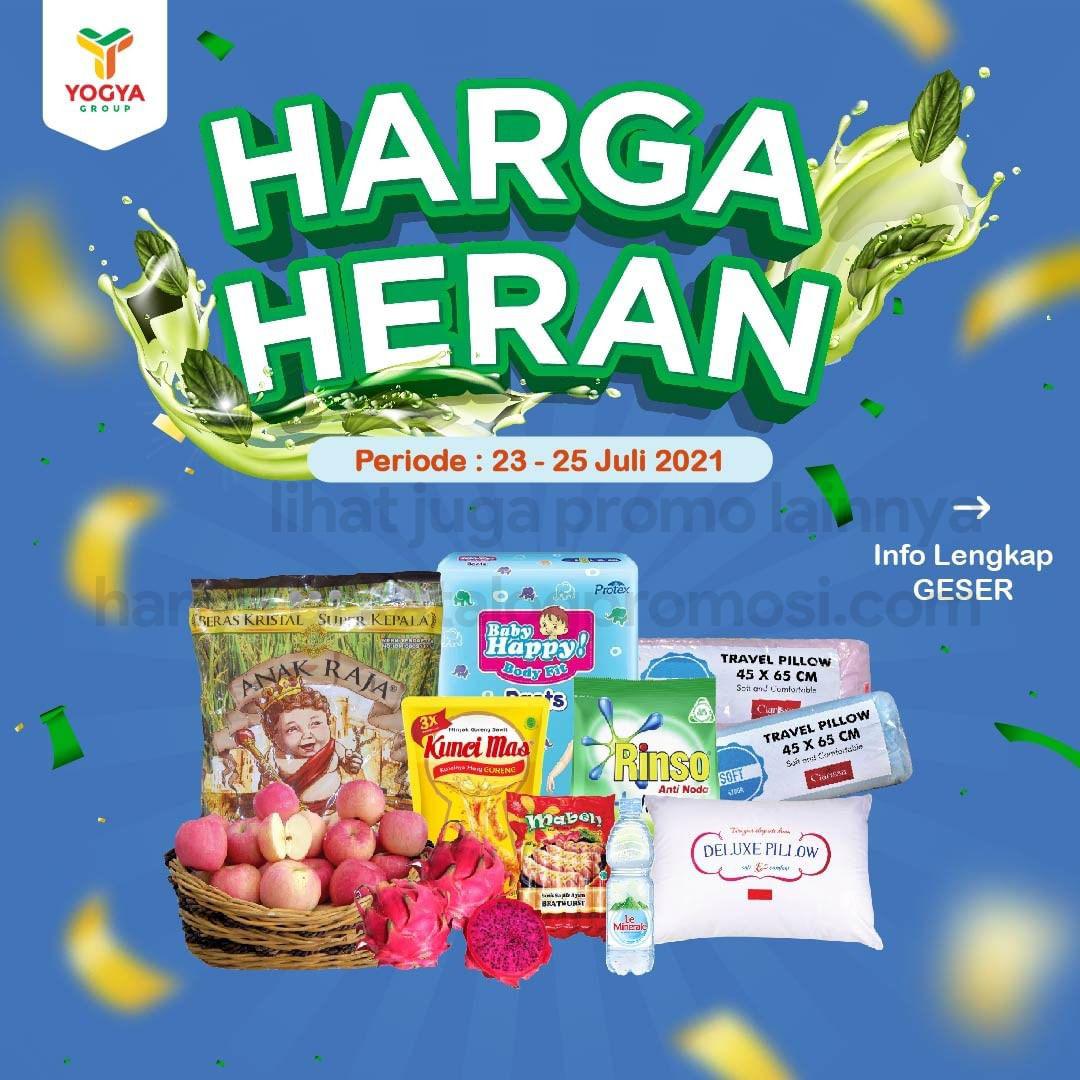 Katalog TOSERBA YOGYA WEEKEND Promo HARGA HERAN periode 23-25 Juli 2021
