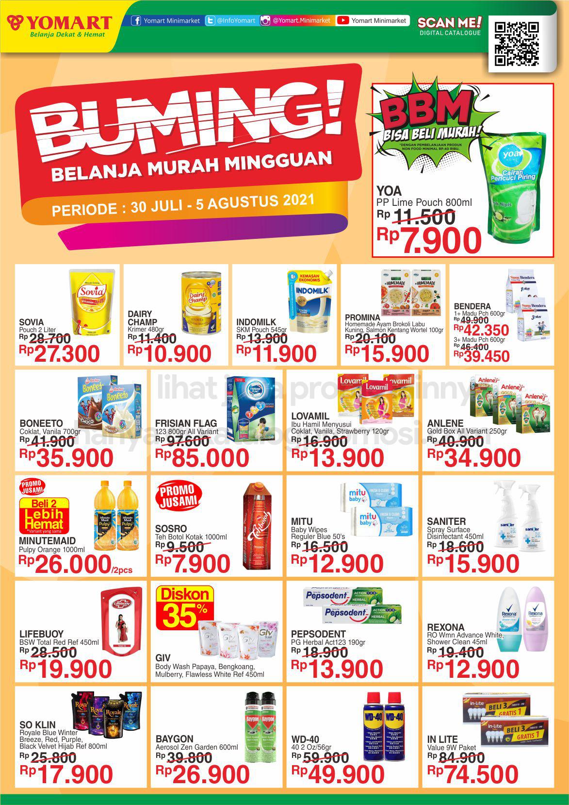 Promo Yomart Katalog Weekend Promo periode 30 JULI - 05 AGUSTUS 2021